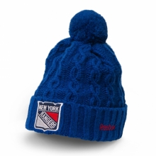 Шапка  с пумпоном Reebok New York Rangers